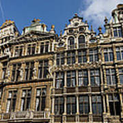 Postcard From Brussels - Grand Place Elegant Facades Poster