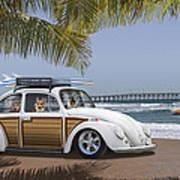 Postcards From Otis - Beach Corgis Poster