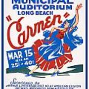Poster For Production Of Carmen Poster