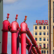 Potsdamer Platz Pink Pipes In Berlin Poster