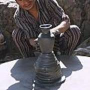 Potter At Work In Bhaktapur Poster