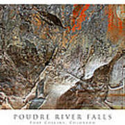 Poudre River Falls Fort Collins Poster by Posters of Colorado