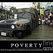 Poverty Inspirational Quote Poster