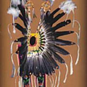 Pow Wow Regalia - Orange Poster