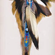 Pow Wow Regalia - White Poster