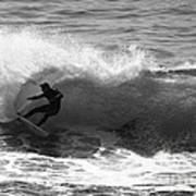 Power Carve Surfer Photo Poster by Paul Topp