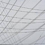 Power Lines Fill The Sky Poster