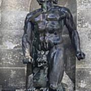 Powerscourt Fountain Sculpture Poster