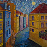 Prague A La Vangogh Poster