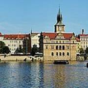 Prague East And Charles Bridge Poster