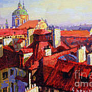 Prague Old Roofs 04 Poster