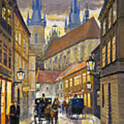 Prague Old Street Stupartska Poster