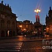 Prague Old Town At Night Poster