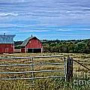 Prairie Barn And Pasture Poster