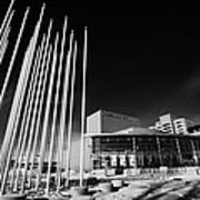 prairie wind sculpture outside the remai arts centre Saskatoon Saskatchewan Canada Poster