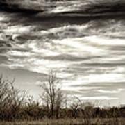 Prairie Winter Sky Poster