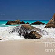 Praslin Island Waves Poster