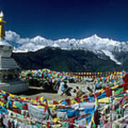 Prayer Flags In The Himalayan Mountains Poster