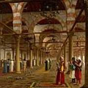 Prayer In The Mosque Poster by Jean-Leon Gerome