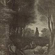 Prayer Of Jesus In The Garden Of Olives Poster