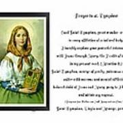 Prayer To St. Dymphna Poster
