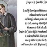 Prayer To St. Gerard For Motherhood Poster