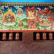 Prayer Wheels And Paintings Poster