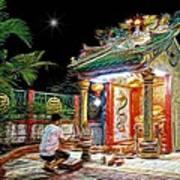 Praying At The Shrine. Poster