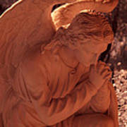 Praying Male Angel Near Infrared  Poster