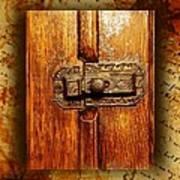 Pre-civil War Bookcase-glass Doors Latch Poster