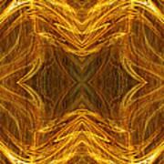 Precious Metal 3 Ocean Waves Dark Gold Poster by Andee Design
