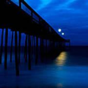Predawn Blue Beneath Pier Poster