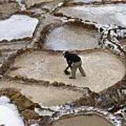 Preincan Salt Mines In Maras Peru Poster
