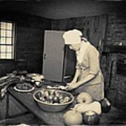 Preparing Dinner Poster