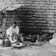 Preparing Tortillas In Aguas Calientes Poster