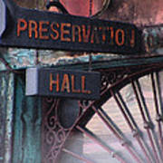 Preservation Hall Sign Poster
