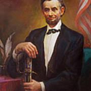 President Abraham Lincoln Poster by Svitozar Nenyuk