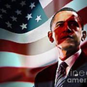 President Barack Obama Poster by Marvin Blaine