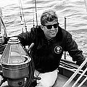 President John Kennedy Sailing Poster by War Is Hell Store