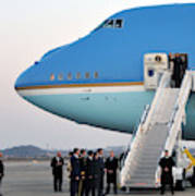 President Obama, Osan Air Base, Korea Poster