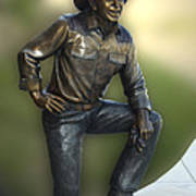 President Ronald Reagan Statue Poster