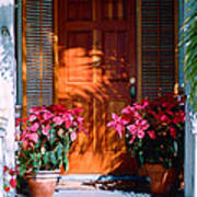 Pretty House Door In Key West Poster
