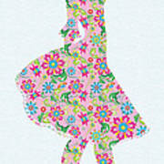 Pretty In Pink Flower Girl Poster
