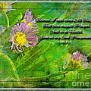 Pretty Little Weeds With Photoart And Verse Poster
