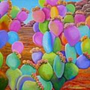 Prickly Pear Cactus-Eye Candy Poster