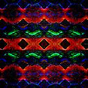Primitive Textured Shapes Poster