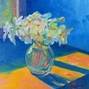 Primroses In Spring Light - Still Life Poster by Patricia Awapara