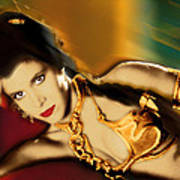 Princess Leia Star Wars Episode Vi Return Of The Jedi 1 Poster by Tony Rubino