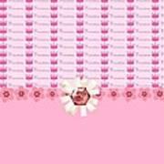 Princess Pink Crowns Poster by Debra  Miller