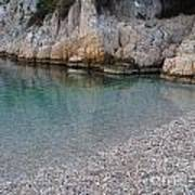 Pristine Water At Calanque D'en Vau In Cassis France Poster